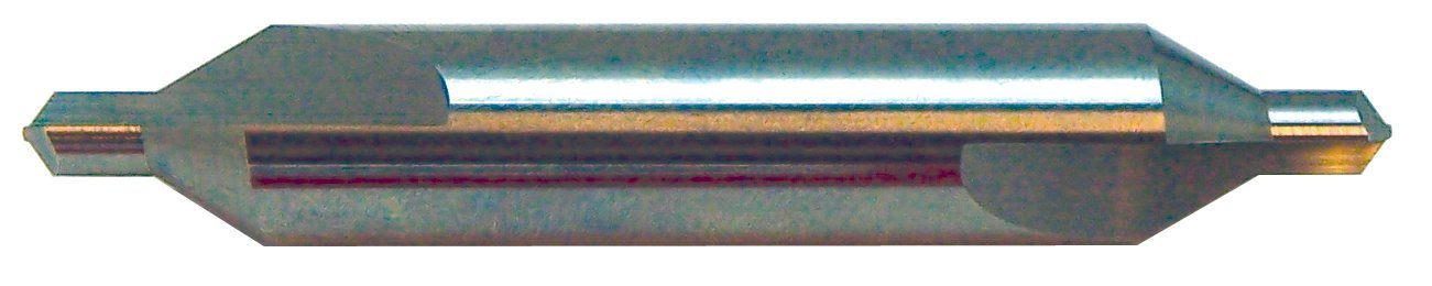 KEO 19109 Carbide Drill, Right Handed, 90 degree Cutting Angle, Plain Type, Straight Flute, 1/8'' Diameter, 1-1/2'' Length, Size #1