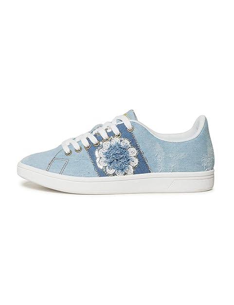 Desigual Shoes (Cosmic_Exotic Denim), Zapatillas para Mujer: Amazon.es: Zapatos y complementos