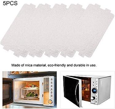 Hoja de mica, pieza de reparación de horno de microondas 5PCS Placas de mica Hojas Horno de microondas Reemplazo de placa de mica Accesorio de reparación para horno de microondas