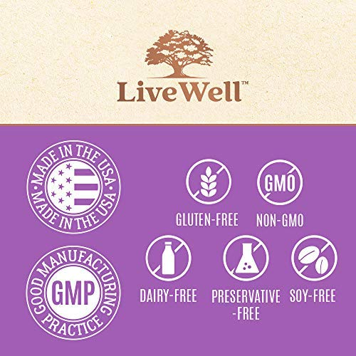 Collagen Peptides - Hair, Skin, Nail, and Joint Support - Type I & III Collagen - All-Natural Hydrolized Protein - 41 Servings by LiveWell Labs Nutrition    (Image #6)