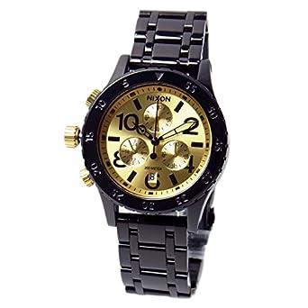 fe2a25ee9a03 [ニクソン] NIXON 腕時計 ユニセックス 38-20 クロノグラフ ブラック/ゴールド A404010