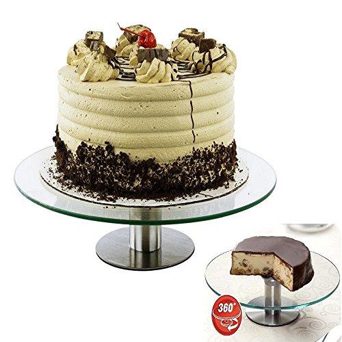 360 Revolving Cake Stand Platter Cupcake Dessert Wedding Birthday Party -