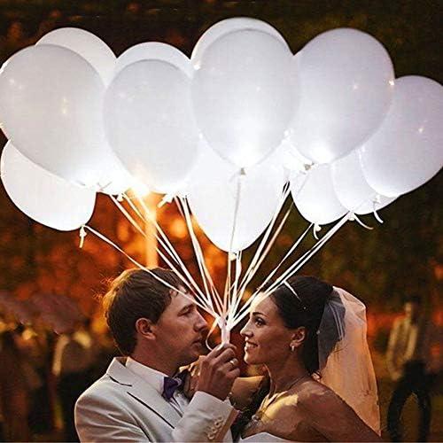 LULAA LED風船 光る風船 LED 内蔵バルーン ウェディング/パーティー/誕生日/結婚式/花火大会 飾り付け 幻想的 おしゃれ ホワイト 50枚