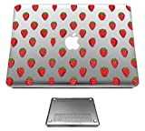 c1113 - Cool Red Strawberries Wallpaper Wimbledon Summer Fruit Design Macbook Air 13.3'' (2012-2015) Fashion Trend CASE Full COVER Front And Back Full Protective Cover Case