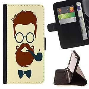 Dragon Case - FOR Samsung Galaxy S3 III I9300 - Debonair Facial Hair - Caja de la carpeta del caso en folio de cuero del tir¨®n de la cubierta protectora Shell