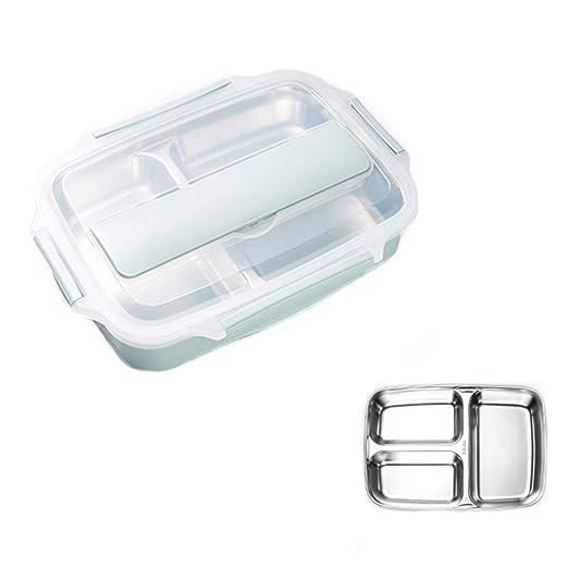 HEYIHUI Lunch Box - Fiambrera bento Box Hijo Acero Inoxidable + PP ...