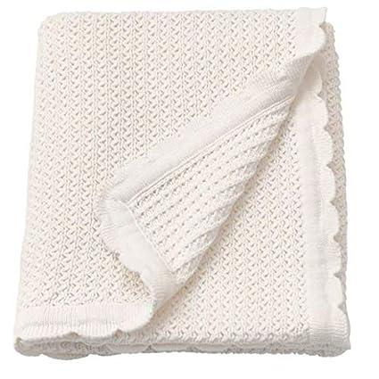 IKEA GULSPARV Babydecke in weiß; 100/% Baumwolle; 70x90cm Kuscheldecke