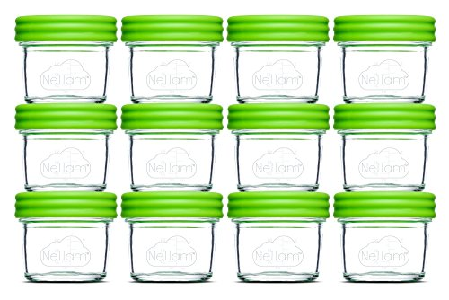 Nellam Baby Food Storage Containers – Leakproof, Airtight, Glass Jars for Freezing...