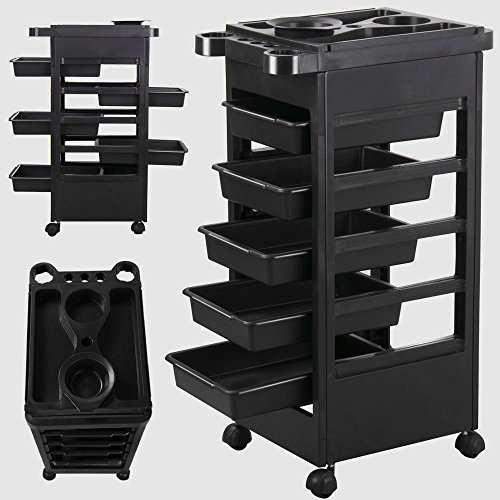 Styling Station Organizer Hair Salon Style station Professional Equipment Beauty Salon Portable Cabinet Rolling & e Book by AllTim3Shopping.