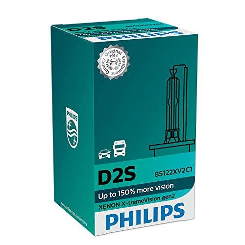 Philips Xenon X-TremeVision Gen2 150/% D2S HID Xenon Bulbs Set of Two 85122XV2C1