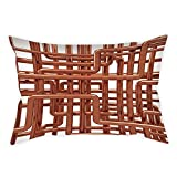 iPrint Polyester Throw Pillow Cushion Cover,Copper Decor,Knot of Copper Pipes Complex Entangled Lines Hardware Industry Inspired Decorative,Bronze White,Decorative Square Accent Pillow Case