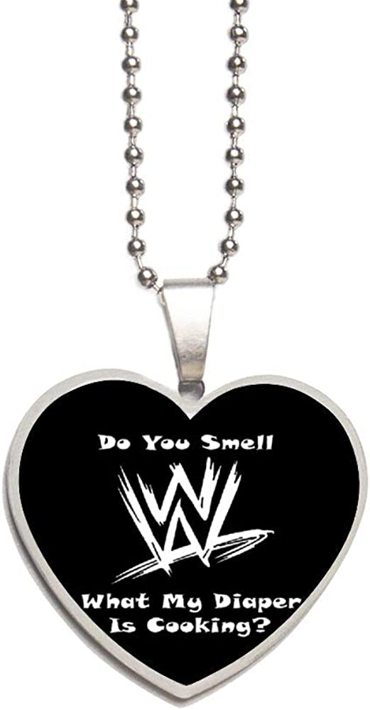 Do You Smell What My Diaper Is Cooking Necklace Personalized Engraved Heart Custom Gift Pendant-Valentines Day Love