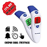 Infrared Digital Ear Forehead Thermometer Medical Clinical Fever Warning Professional for Baby Kids Adult, FDA and CE Approved