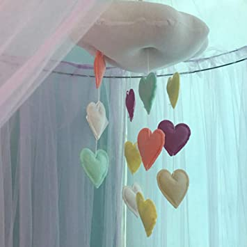 Amazon.com: IRICEYE Home Decoration,Cotton Cloud Heart ...