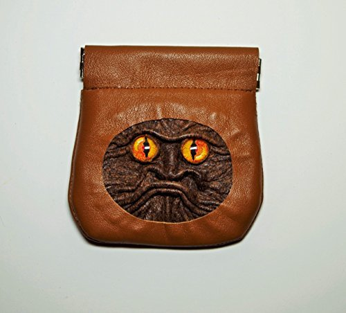 Leather Change Pouch, Coin Holder, Money Pinch Purse, brown leather, squeeze purse, flex frame wallet, 3D dragon eye face, dice bag, SD TF Headphone Case, Cable Earbuds Earphone Headset Storage Bag