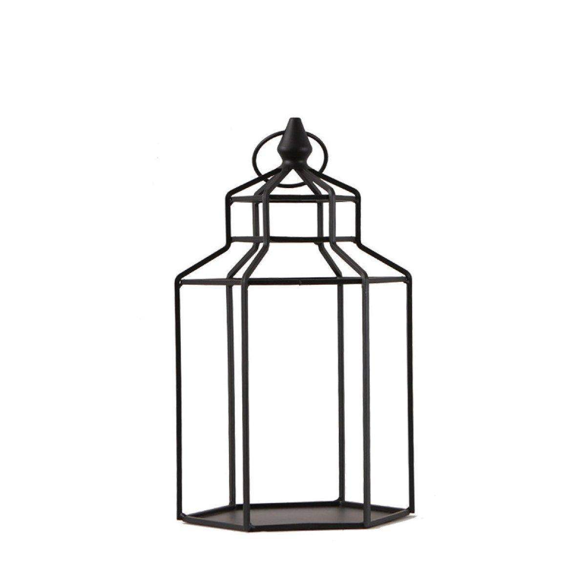 L;IAN Flower Pot Rack Simple Iron Art Drop-Floor Shelf Living Room Decorative Candles line Lights Flower Stand