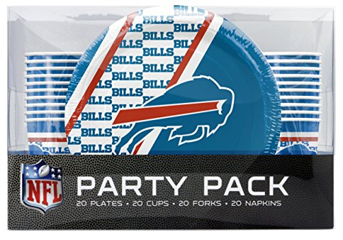 NFL Buffalo Bills Disposable Party Pack (Plates, Cups, Forks, Napkins)