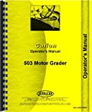 Galion 503 Grader Operators Manual