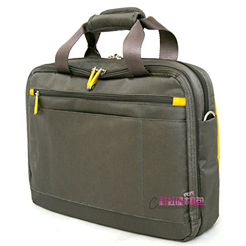 gray with yellow crown tiara 6213 briefcase M 16-inch computer laptop bag tote bag Generic Genuine