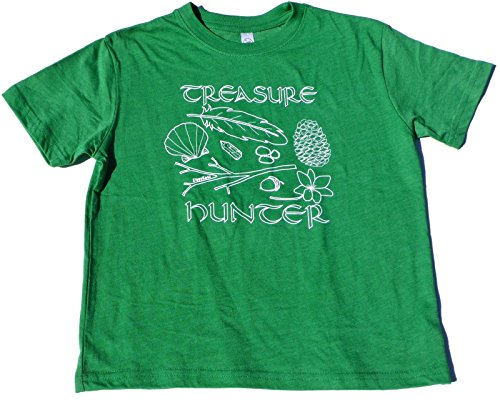 ZippyRooz Boys Toddler & Little Kids Hiking Camping Tee Shirt Treasure Hunter (5/6) ()