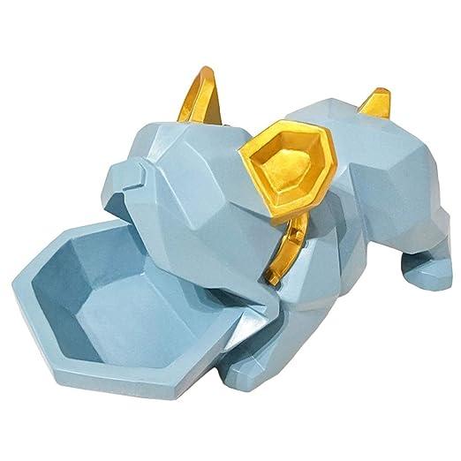 HAOHAO Exquisita decoración Elegante de Bulldog Lucky Dog ...