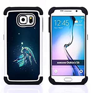 GIFT CHOICE / Defensor Cubierta de protección completa Flexible TPU Silicona + Duro PC Estuche protector Cáscara Funda Caso / Combo Case for Samsung Galaxy S6 SM-G920 // Abstract Galaxy //