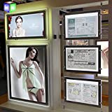 A3 Double Side Led Widnow Display Crystal Acrylic Light Box ( 3pcs )