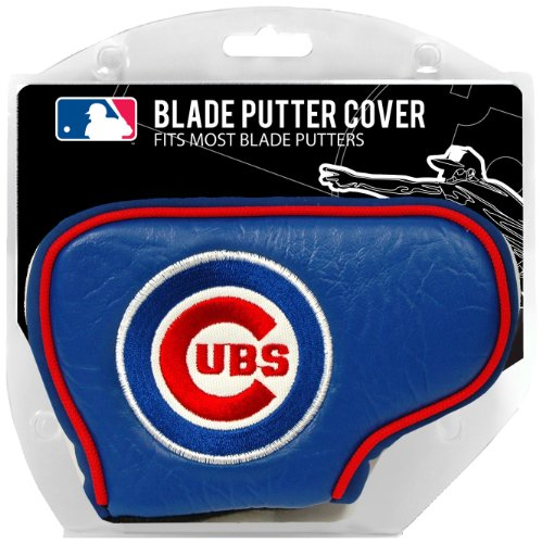 Team Golf MLB Chicago Cubs Golf Club Blade Putter Headcover, Fits Most Blade Putters, Scotty Cameron, Taylormade, Odyssey, Titleist, Ping, Callaway ()
