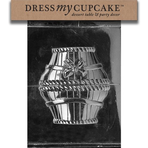 Dress My Cupcake Chocolate Candy Mold, Large Basket with Bow