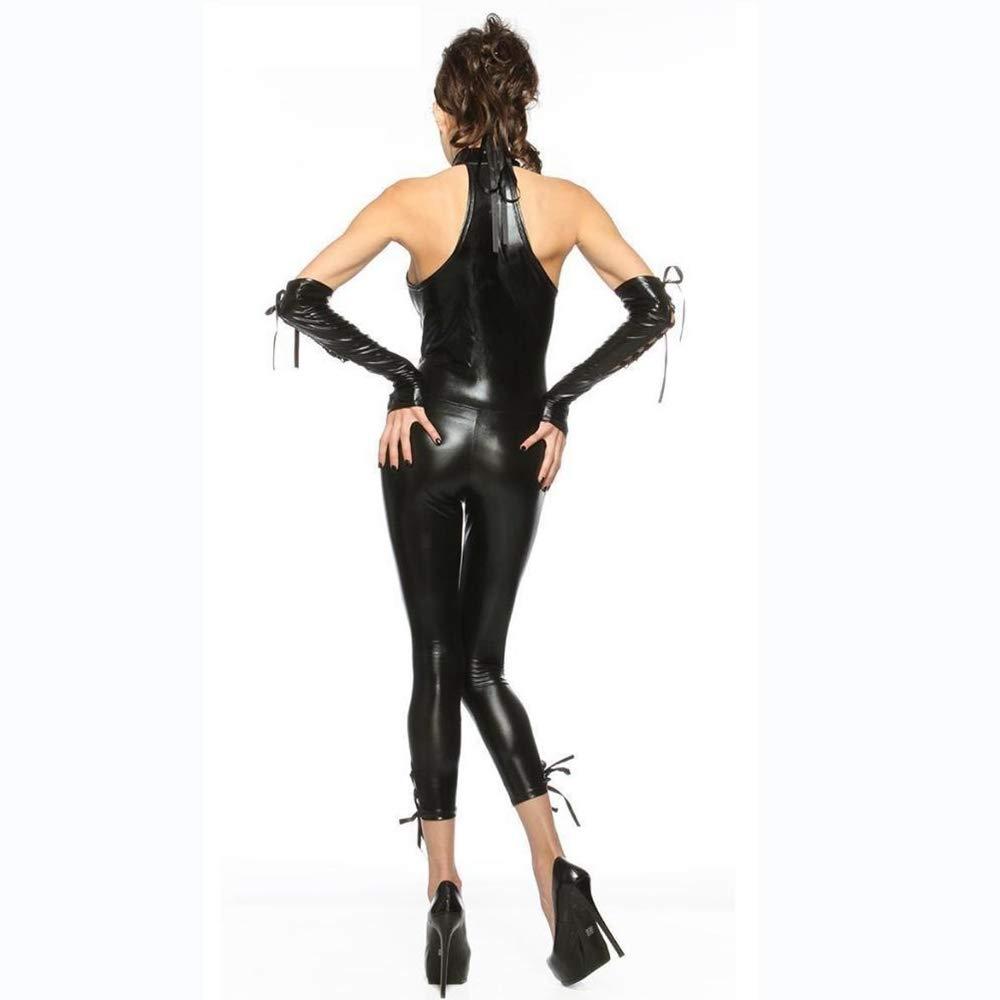 Olydmsky karnevalskostüme Damen Halloween-Kostüm Patent-Anzug Cat Bar Party Kostüme