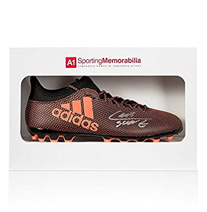 Luis Suarez Signed Football Boot Adidas Burnt Orange - Gift Box Autograph - Autographed  Soccer Cleats at Amazon s Sports Collectibles Store 8112468f1