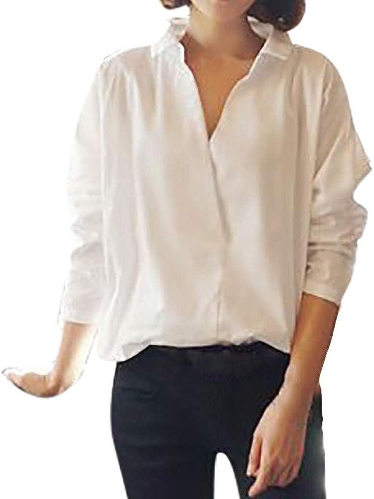 Fossen Blusas para Mujer Verano Otoño 2019 Elegantes - Versión Coreana Camisa Blanca Suelta de Gran Tamaño de Encaje Hueco Manga Larga - Camisas Originales para Oficina, Fiesta, Ocio, Vacaciones: Amazon.es: Ropa