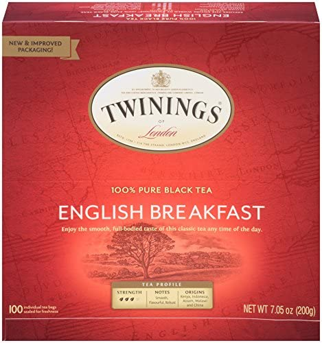 Twinings of London English Breakfast Black Tea Bags
