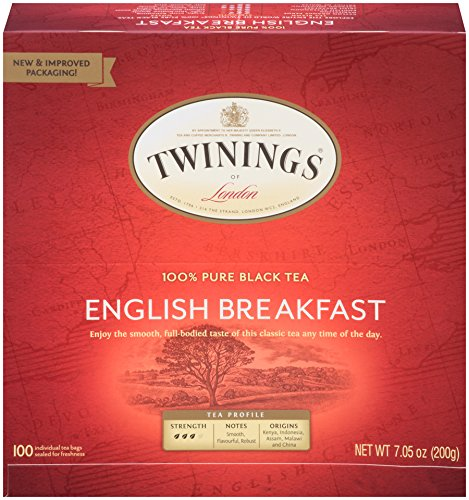 Twinings of London English Breakfast Black Tea Bags, 100 Count (England Rose Tea Red)