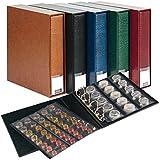 Álbum para monedas PUBLICA M [Lindner 3532M], con 10 hojas monedas - Color: azul