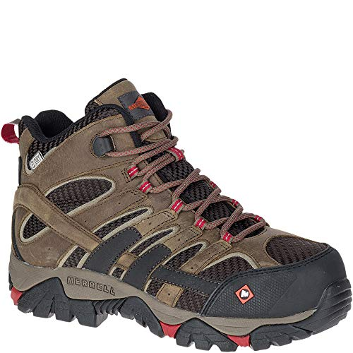 Womens Non Metallic Safety Toe - Merrell Moab 2 Vent Mid Waterproof Comp Toe Work Boot Women 7 Boulder
