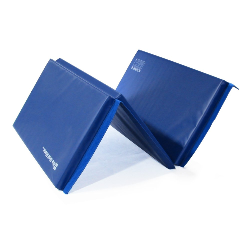 We Sell Mats Thick Gymnastics Tumbling Exercise Folding Mat, Blue, 4' x 6' x 2'' by We Sell Mats (Image #3)