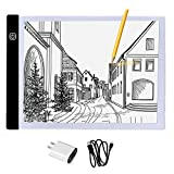 FAVOLCANO A4 Dimmable Brightness LED Light Box Ultra-thin Portable LED Pad USB Power Tracing Light Box Light Table for Artists,Drawing, Sketching, Animation