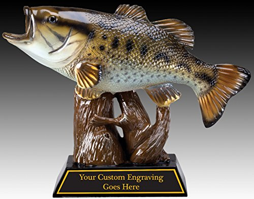 Fishing Perpetual Plaque, 12 Year Fishing Award, Plaque, Trophy w