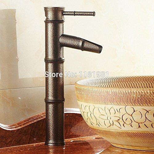 U-Enjoy Roman Bronze braun Top-Qualität Bambus-Einzelnes Loch Badezimmer Haus Badezimmer Küche Deck Montiert Hahn [Kostenloser Versand]