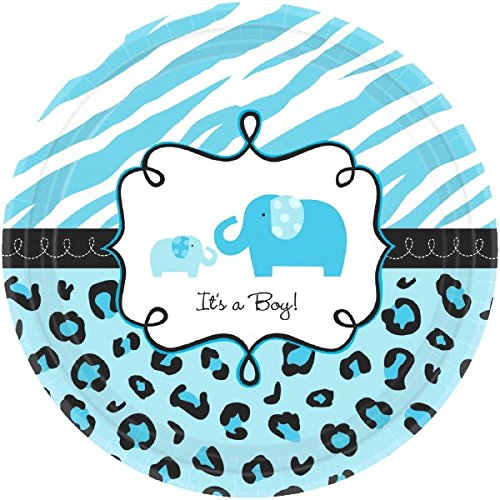 safari baby shower plates - 2