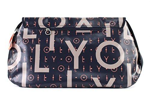 Oilily Damen Lori Letters Diaperbag Lhf Umhängetasche, Blau (Dark Blue), 16x30x44 cm