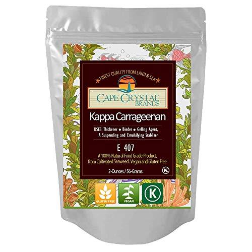 Kappa Carrageenan Powder | Food Grade Natural Thickener Substitute for Gelatin - Kosher ( 2 Oz)