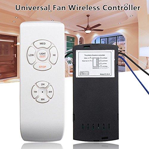 Ventilador de Techo inal/ámbrico con Mando a Distancia y Interruptor de Luces XIAOMU Telecontrol