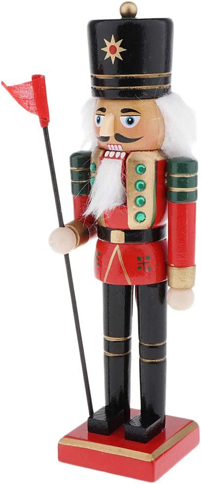 Style1 4 Styles to Choose Dailymall Wood Nut Cracker Ornament Nutcracker Figures Home Decoration for Christmas Decor