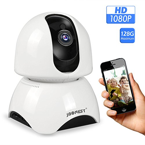 JBonest WiFi IP Camera,1080P HD Wireless Security Camera Pan/Tilt Phone APP Remote Home Surveillance Video Security System 2-Way Talking Night Vision for Baby/Elder/Pet Monitoring Camera Tracking System