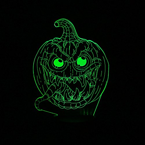[Creative 3D LED Pumpkin Optical Illusion Decoration Lighting for Halloween, Christmas Holiday Time, Perfect Night light for Kids,children, Stunning Decorative Desk Lamp mood lighting for] (Halloween Costumes Gallery)