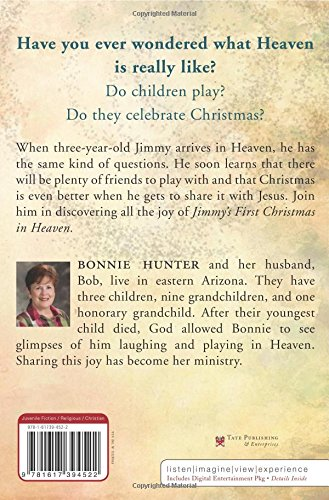 amazoncom jimmys first christmas in heaven 9781617394522 bonnie george hunter books