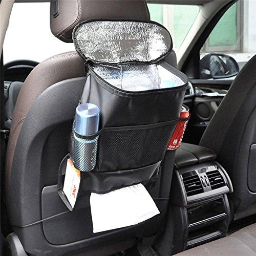 Auto Seat Organiser Kfnire Multi-Pocket Travel Storage Bag//Insulated Car Seat Back Drinks Holder Cooler Bag