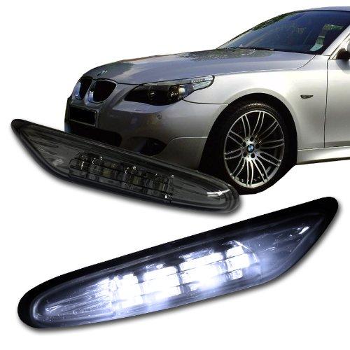 2003-2009 BMW E60 5 Series Smoke Lens White LED Side Marker Light